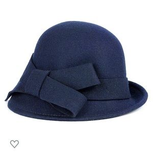 Blue 1920s Wool Hat